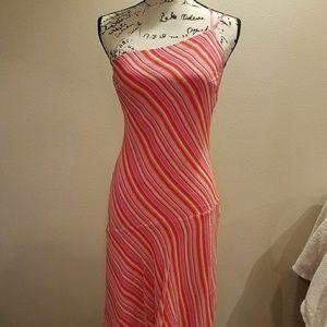 Express silk asymmetrical dress